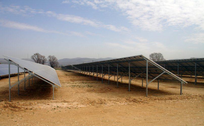 βάσεις φωτοβολταίκών Πάρκο Φ/Β 1MW - Φλώρινα